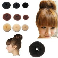 Wholesale Hair Scrunchie For Bun - Hair Bun Donut Synthetic Scrunchie Hair Cover Bun Cage Bun Wrap Maker Hairpiece Clip in Hair Extension Brid for Womens Girls