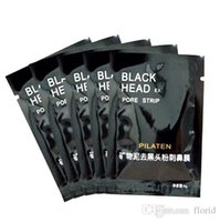 Wholesale Black Heads Removal - 20PCS Fine Mineral Mud Face Mask Blackhead Removal Pores Stripes Cleansing Black Mask Nose Black Heads Mask