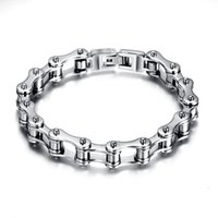 Wholesale mens 316l bicycle chain for sale - Group buy Punk L Stainless Steel Bracelet Men Biker Bicycle Motorcycle Chain Men s Bracelets Mens Bracelets Bangles Fashion Jewelry