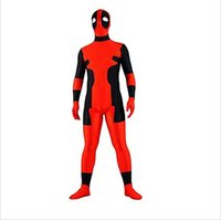 Wholesale Good Costumes For Kids - Good quality deadpool costums superhero amazing spandex full body tights cosplay halloween costumes for men women kids