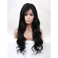 Wholesale Full lace wigs lace front wigs human hair body wave inch Density Natural color swiss lace wigs Indan human hair