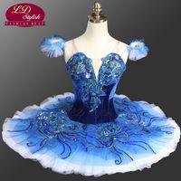 ingrosso tutus blu per le donne-Le donne Royal Blue Profession Ballet Tutu Le ragazze Pink Nutcracker Tutu Performance Ballet Costumi LD0081 Stage Dancewear