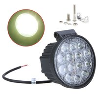 Wholesale Round Atv Headlight - New 42W Off Road Flood Light Waterproof Round LED Work Light LED Flood Lamp for Car Truck Boat SUV ATV Hot Selling order<$18no track