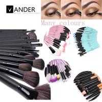 mejores conjuntos de regalo de maquillaje al por mayor-Vander Soft Makeup Brushes Set 32 Pcs Multi Color Maquillage Beauty Brushes Best Gift Kabuki Pinceaux Brush Set Kit + Pouch Bag