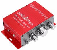 мотоциклетный усилитель звука mp3 оптовых-2016 мини авто стерео усилитель 2 канала аудио поддержка CD DVD MP3 вход для Nehicle багажник мотоцикла Hi-Fi 12 в аудио плеер
