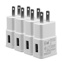 Wholesale Black Usb Wall Charger Eu - s7 USB Wall Charger 5V 2A Home Travel adapter EU US Plug Charger AC Power Adapter for Samsung Galaxy S3 S4 S5 Note 4 Mix Color White Black
