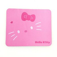 Wholesale Pink Gaming Mouse - 1PC Alfombrilla Raton Hello Kitty Mouse Pad Gaming Keyboard Pad Laptop Computer Mouse Pad Pink Black Colors Available