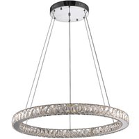 Wholesale K9 Crystal Single Pendant - VALLKIN Crystal Pendant Lights K9 Crystal LED Chandeliers Lighting Modern Hanging Lamps Fixtures for Cafe with Single D80CM 33W CE FCC ROHS