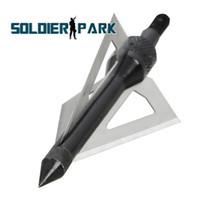 "Wholesale Order Arrow - 3 Pcs Lot Hunting Broadheads Aluminum Stainless Steel Broadheads 3 Fixed Blades 2 "" Broadhead Arrow Head 100 Grain Archery Arrow order<$18no"