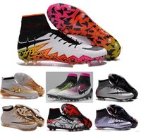 Wholesale New Sock Boots - new 2016 tf turf Superfly FG AG Soccer Shoes High Ankle Football Boots ACC Men Outdoor Superfly CR7 Cleats With Socks Free Shipping