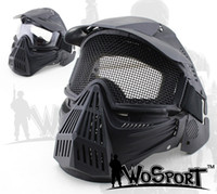 WoSporT Tactical Transformers Leader Mask Стальная сетка Breathable Full Face Safety CS Поле Airsoft Wargame Paintball Masks