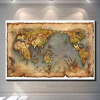 Wholesale Ancient civilization Vintage World map Treasure Map poster wall sticker for kids room Retro wallpaper Garage Cafe Pub Bar Home decoration
