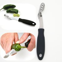 Wholesale Green Tomatoes Seed - wholesale Green Pepper Corers Kitchen gadgets Easy Remove Chili Tomato Core Furit & Vegetables Tools Bell Peppers Seed Remover