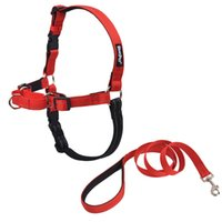 Wholesale Reflective Straps - Large Dog Adjustable Reflective Harness Pet Products Comfortable Quality Nylon Vest Professional Training and Leash Chest Strap