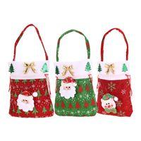 Wholesale Wholesale Christmas Present - 2016 New Year Chrismas Santa Claus Kids candy gift bags Handbag Pouch Wedding Sack Present Bag Christmas Decoration Cute Santa