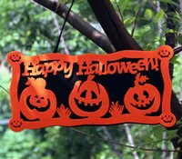 Decorazioni felice di Halloween Doorplate Prop Door Hanging Ghost Sindone Porta Hanger Fun Halloween Party Props Decorazione