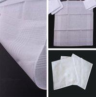 lenços de qualidade venda por atacado-Mais novo lenço de alta qualidade Novo 100% algodão masculino lenço de cetim lenço quadrado branco 38 * 38 cm lenço de cetim