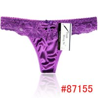 Wholesale HL87155 Cheap ladys Sexy Thong Hot Sale High Quality Lace Satin Thong Women Sexy Underwear Underpant Underwear Lingerie