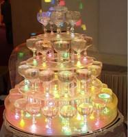 светодиодные подсвечники оптовых-Высокое качество LED загораются свечение кубики льда свадьба центральные украшения рождественские огни 240pcs / lot