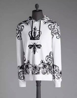 Wholesale fly hoodies - Wholesale-Fast Fuse Skull & Bee Mens NEW Insect Fly Black and White Hoodie M-XXXL! Free Shipping