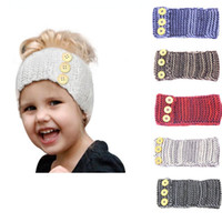 Wholesale Wide Knit Head Band - Baby Crochet Wide Knit Head Band Winter Ear Cover Crochet Head Wrap Baby Toddler Child Knitted Ear Warmer