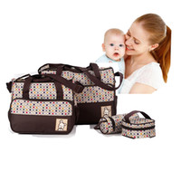 Wholesale Baby Milk Bottle Bag - Fashion Waterproof 5pcs set Multifunctional Baby Diaper Bags  Milk Bottle Bag Large Capacity bolso maternidad Mummy Bags