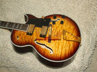 Wholesale Honey Burst - Free Shipping Newest Honey Burst Hollow Classic Jazz Guitar High Quality Wholesale
