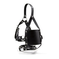 Wholesale Ball Gag Harness Red - Muzzle Harness with Ball Gag Open Mouth with Mask PU Leather Sex Toys in Adult Game Bondage Restraint Sex Products