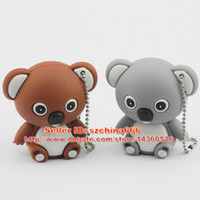 Wholesale cute flash drives online - Cute Koala Model USB Memory Stick Flash pen Drive GB GB GB GB Tin Box