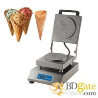 Wholesale Digital Display Thermostat - 220v Electric Ice Cream Waffle Cones Maker Machine Baker Iron with Digital Display