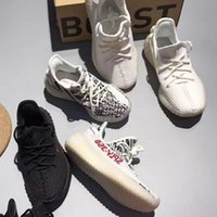 Wholesale Infant Zebra Shoes - 2017 Infant Baby Boy Girl Kids Boost 350 V2 SPLY Boost Running Sports Shoes Black All White Zebra Youth Children Sneakers eur 23-35