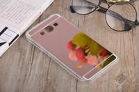 ingrosso samsung grand prime plus oro-Per Samsung Galaxy S8 PLUS S7 EDGE S4 S5 NOTE 5 3 Grand Prime G530 A8 Bling Placcatura a specchio Custodia morbida per TPU per PC Custodia per cellulare Oro rosa 20pz