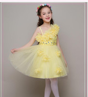 Wholesale Most Beautiful Princess Wedding Dresses - The most beautiful little girl flower children's wear fashion pageant dress high quality customized first holy communion dress
