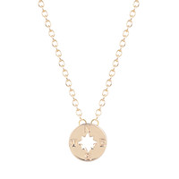 Wholesale Compass Necklaces For Women - 10pcs lot Trend Compass Charm Necklace Friendship Pendant Best Friend Graduation Gift for Women Wholesale Jewelry New Arrival