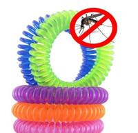 ingrosso braccialetto repellente della zanzara per i bambini-100pc braccialetto repellente per insetti naturale per zanzare per bambini, polsini repellenti per zanzare per bambini non tossici da viaggio per adulti wn211A