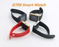 ingrosso nfc smartwatch-GT08 Bluetooth Smart Watch con slot per schede SIM e NFC Health Watch per smartphone Android Smartphone Bracciale Smartwatch DHL gratuito