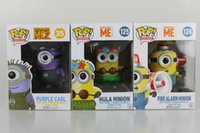 Wholesale Minions Kevin - New hot sale FUNKO Pop Despicable Me Kevin Hula Minions Fireman Minions purple Minions Boxed 10CM gift for children