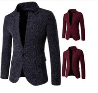 Mens Wool Blazer Slim Snow Style Overcoat für Männer British Single Button Personalisieren Herren Anzug Langarm Plus Size Herren Blazer Mantel J161002