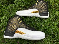 Wholesale Carbon Fiber Wing - wholesale 2018 air 12 XII 12s wings man Basketball Shoes gold With Real Carbon Fiber air Athletics Sports Sneaker Boots with box