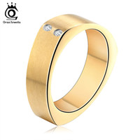 Wholesale China Choice - Gold Silver Black 3 Color Choices Men Women Wedding Band Fashion Stainless Steel Zircon Ring Wholesale GTR26