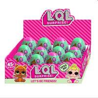 Wholesale Dress Display Models - LOL SURPRISE DOLL Cosplay Surprise Doll Dress Up Toys 7.8cm Surprise Eggs With Display Box Magic Christmas Gift 12pcs set OOA3797