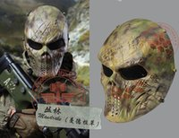 cheap scary movie props tactical rattlesnake mandrake scary horror skull chastener typhon camouflage full face - Scary Props