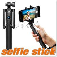 drahtlos gebaut bluetooth selfie stick groihandel-Selfie Stick, Self-Portrait Einbeinstativ ausziehbare Wireless Bluetooth Selfie Stick mit integriertem Bluetooth Remote Shutter für Apple iPhone 6/6