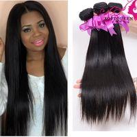 Wholesale Eurasian Virgin - Grade 8A Virgin Hair Unprocessed Eurasian Brazillian Straight Hair 4Pcs Lot Natural Color Dyeable Remy Hair Weave Brazilian Virgin Hair