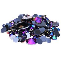 Wholesale acrylic designs for nails - Black AB Acrylic Rhinestones For D Nails Art mm mm mm mm And Mixed Sizes Flatback Pointed Glue On Stones DIY Crafts Designs