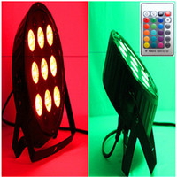 Wholesale Auto Noise - Wireless remote control DJ stage lights 9x12W RGBW 4IN1 LED SlimPar LED Stage Uplighting LED par lighting No Noise