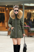 Wholesale Extra Large Down Jacket - New Winter Warm Cotton Filling Parka Womens Extra Large 4XL Hood Hooded Puffy Cotton Down Jacket