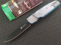 Wholesale Fulcrum Knives - OEM Crkt Fulcrum 7404 by Russ Kommer AUS-8 blade Plain Black finish Drop point CPL handle Folding blade knife pocket knives with box