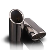 Wholesale Automobile Tips - For 2011 2012 2013 VOLVO S60 V40 V60 High quality Stainless steel Car Automobiles exhaust muffler pipe tip cover car accessories