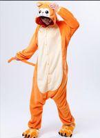 pijamas laranja mulheres venda por atacado-Inverno Unisex Adulto Animais Sono Casaco Pijama Completo Cosplay Mulheres Laranja Macaco Pijama Conjuntos De Pijama Flanela Conjuntos De Pijama Oneises